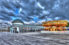 Hastings Pier HDR (TD2112) Tags: sky color colour sussex hastings merrygoround hdr highdynamicrange planking hastingspier tonyduke
