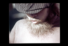 ss23-76 (ndpa / s. lundeen, archivist) Tags: people man color film hat boston beard massachusetts nick slide facialhair slideshow mass 1970s youngman bostonians bostonian dewolf early1970s nickdewolf photographbynickdewolf slideshow23