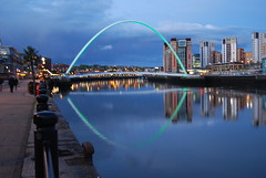 Tyne reflections (Halliwell_Michael ## More off than on this week #) Tags: blue reflection water sport night reflections evening spring nightshot northumberland rivers nightshots bluehour springtime newcastleupontyne rivertyne nikond40x magicweekend reflectionslovers