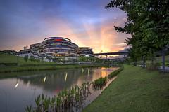 Sunset @ Safra Punggol, Singapore (gintks) Tags: reflection evening landscapes singapore singapur waterway sunray safra orangeglow glowinglight exploresingapore singaporetourismboard yoursingapore gintks gintaygintks