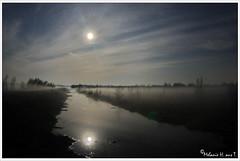Full moon and stars above the foggy moor (lichtspuren) Tags: light moon night canon lens eos mond licht nacht fisheye spooky moor 16mm zenitar f28 gruselig 40d