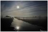 Full moon and stars above the foggy moor (lichtspuren) Tags: moor night nacht spooky gruselig mond moon licht light canon eos 40d zenitar 16mm f28 fisheye lens lichtspuren