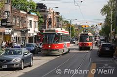 Roncesvalles Ave, Toronto (finnyus) Tags: toronto ontario ttc transit commission roncesvalles 4108 4074 clrv roncesvallesavenue roncesvallesave torontotransitcommissionclrv
