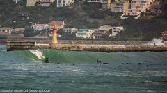 kalk bay reef (AndreDiener) Tags: surfing surf wave reef reefbreak waterphotography harbour scene harbourwall wall people watersport