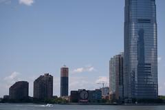 Coalgate Clock (Photographs By Wade) Tags: coalgateclock jerseycity newjersey buildings newyorkharbor eastriver water clock giantclock boat