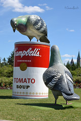 Tomato soup (Krissy-Anne ) Tags: red art tomato giant soup pigeons can hull campbells condensed canadianmuseumofcivilization