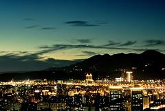 Taipei - Sky, Mountain, City-02 (bluetrayne) Tags: nightphotography longexposure analogphotography taiwan taipei nightscene night citylights cityscape skyline skyscraper building architecture colorful   101 taipei101 urban urbanlandscape landscape landscapephotography
