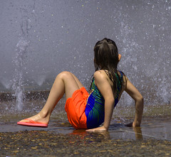 Fountain Play (swong95765) Tags: sun wet water fountain girl fun happy kid play joy happiness