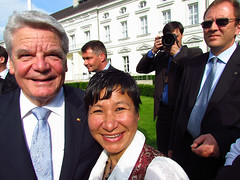 Anu with the President of Germany Joachim Gauck 2012