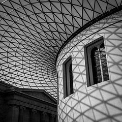 Great Court Roof (mph1966) Tags: uk roof light shadow blackandwhite bw london museum canon iso200 gray class ceiling 7d british 24mm grayscale f8 greatcourt 24105 24105l canon24105l canon24105 1160seconds canon7d btitishmuseum