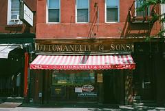 Ottomanelli & Sons on Bleecker St NYC / Olympus mju II (ho_hokus) Tags: nyc newyorkcity ny newyork 35mm store olympusstylusepic manhattan butcher 35mmfilm storefront mjuii compactcamera 2015 olympusmjuii 35mmfilmcamera kodakektar100 vintagestorefront ottomanellisons