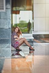 Мария (Kolkinr) Tags: girl rain canon spring dress kazakhstan astana fashioned
