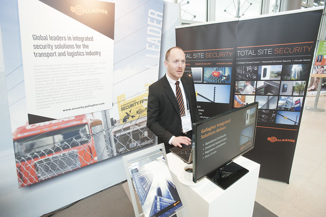 Peter Tentij presents the Gallagher security stand