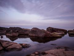 Part 1 (densshod) Tags: ocean longexposure light sky clouds landscape sweden outdoor olympus halmstad