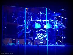 Alan White's drumkit (ExeDave) Tags: cameraphone uk england music rock mobile bristol hall concert phone drum live yes gig band gb sw kit progressive iphone alanwhite colston prog