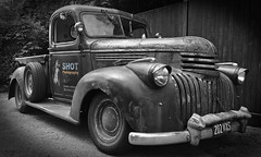 SHOT Photography Chevrolet Rat Rod Pickup Truck (The Landscape Motorcyclist) Tags: bw usa chevrolet truck mono cool rat pickup rod selectivecolour blackratracing iphone5s