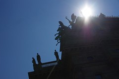 up above (Cybergabi) Tags: roof backlight prague statues intothesun 2016