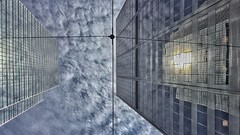 Offset (@ThetaState) Tags: sky toronto ontario canada reflection clouds buildings skyscrapers may offset 2016