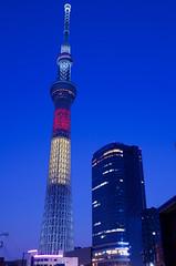Tokyo Skytree (ELCAN KE-7A) Tags: japan tokyo belgium pentax illumination   sumida 2016    oshiage    skytree  k5s
