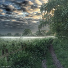 Misty Morning (deancolclough74) Tags: field clouds spring moody cheshire earlymorning spooky lane hdr firstlight sandbach eary mistymorning