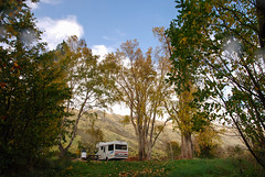 Campervaning in New Zealand (draculina_ak) Tags: autumn newzealand fall herbst southisland wohnmobil campervan neuseeland caravana campervaning