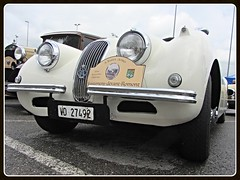 Jaguar XK 120, 1950 (v8dub) Tags: jaguar xk 120 1950 schweiz suisse switzerland fribourg freiburg british roadster pkw voiture car wagen worldcars auto automobile automotive old oldtimer oldcar klassik collector classic