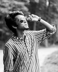 Topu (abrarahmed77) Tags: bangladesh dhaka streamlet portrait monochrome black white model glassess canon eos ef 600d t3i rebel kissx5 50mm prime people humans