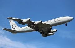 Boeing 707-300C N624RH, Omega Tanker, Myrtle Beach, South Carolina, Summer 2016, (hondagl1800) Tags: boeing707300cn624rh omegatanker myrtlebeach southcarolina summer2016 boeing707 aircraft airplane blue outdoor vehicle michaeldebock