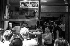 Pizza - Napoli (Martok) Tags: napoli neaples granita januarius gennaro love michele pizzeria san saint pizza caff coffee espresso vespa leica monochrom