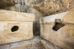 olympos ruins (eb78) Tags: turkey middleeast anatolia lycia olympos ruins abandoned sarcophagus tomb