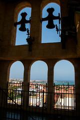 Corralejo views through Clock Tower Windows (Val Beegan) Tags: windowview clocktower summer sunnyday naturallight picturesque daylightphotography scenery spain canaryislands fuerteventura corralejo
