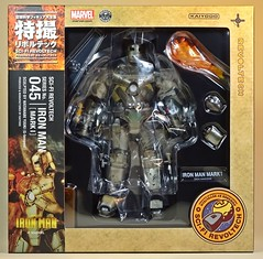 Kaiyodo  Sci-Fi Revoltech  Series No. 045  Iron Man  Iron Man Mark I  Box Art (My Toy Museum) Tags: kaiyodo revoltech sci fi iron man mark 1 i action figure