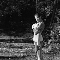 Prelude of love (lizardking_cda) Tags: lumire light sun soleil arbre tree feuilles leaves summer t bois wood forest fort village biot valbonne parc brague river rivire shooting park nice france cte azur hasselblad medium moyen format film ilford delta400professionaldp400 portrait model photoshoot beautiful belle woman femme fille girl fashion sexy wild sauvage naked nude nue robe dress jean wet mouille water eau topless bw nb art glamour eden paradis romantic love melancholy mlancolie mood amour
