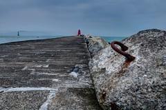 Poolbeg Lighthouse I... (fotobyanna) Tags: thegreatsouthwall poolbeglighthouse dublin irishsea photography canon750d redlighthouse lighthouse gcc annaorourkephotographycom