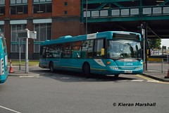3556, Derby Bus Station, 15/8/16 (hurricanemk2c) Tags: arriva 3556 yr58sry