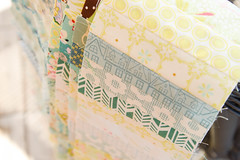 so far so good (balu51) Tags: patchwork sewing quilting quilt summerquilt strip quiltprogress stashsewing yellow green paleblue teal cream white september 2016 copyrightbybalu51