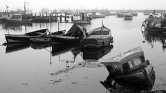 South Gare misty 15-09-16  (50 bw) (Big Warby) Tags: david warburton big warby bigwarby uk united kingdom england great britain seaside coast sea harbour boats ships fishing reflections river tees tees estuary black white bw monotone redcar redcar cleveland east coast north yorkshire riding south gare paddys hole teesmouth tees mouth