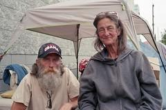 M and S (ADMurr) Tags: la dtla couple beard stroke recovering obama hat leica m6 kodak ektar fil 40mm