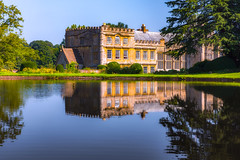 reflection of forde abbey (Anthony White) Tags: dorset monastery gb uk reflection nopeople bluesky summer