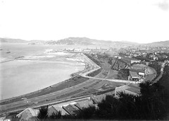 15; Elevated view of the Thorndon Railway Yard Reclamation - Circa 1930 (Wellington City Council) Tags: wellington historicwellington 1800s 1900s 1950s
