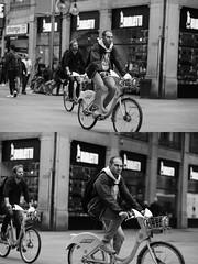 [La Mia Citt][Pedala] con il BikeMi (Urca) Tags: milano italia 2016 bicicletta pedalare ciclista ritrattostradale portrait dittico bike bicycle nikondigitale mir biancoenero blackandwhite bn bw nn 89141 bikemi bikesharing