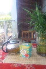 Trader Joe's Coconut Green Tea (blackunigryphon) Tags: morning asian spring coconut balcony newengland siamese bamboo patio zen thai traderjoes greentea decor lemongrass bohemian bohochic gypsetter gypset bohodecor