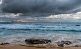 Dramatic seas