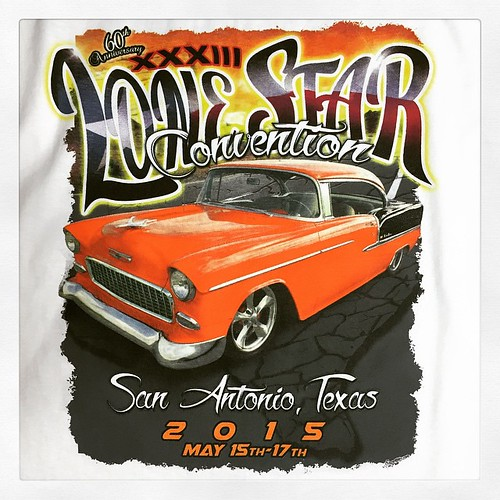 60th Anniversary Lone Star Convention tees! Happy birthday, '55! #Expertees #tshirts #classic #cars #classiccar