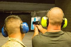 Me shooting the Desert Eagle pistol (jimmyharris) Tags: pistol gunrange deserteagle battlefieldvegas