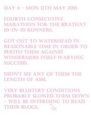 0 Brathay 10 in 10 - Day 4 (Annie-Sue Jyelra) Tags: yellow slow marathon running runners gusty ambleside windermere waterhead brathay 10in10 brathaytrust