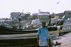 (willgoodan) Tags: leica travel portrait people sunlight man black film 35mm 50mm paint open outdoor iso400 wide culture slide backpacking solo flare mp dhaka traveling provia summilux bangladesh e46 chittagong blackpaint 14