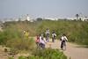 (orientalizing) Tags: people children estuary bicycles morocco essaouira atlanticcoast schoolisout ksobriver ouedksob