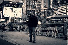 The Times square (Dmitriy Anishchenko) Tags: bw ny newyork square nypd timesquare timessquare times
