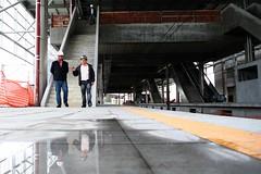 Vistoria às obras de construção da nova estação da CPTM em Suzano